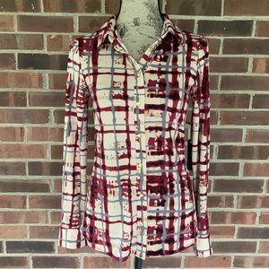 NWT BCBGMaxAzria button down plaid shirt